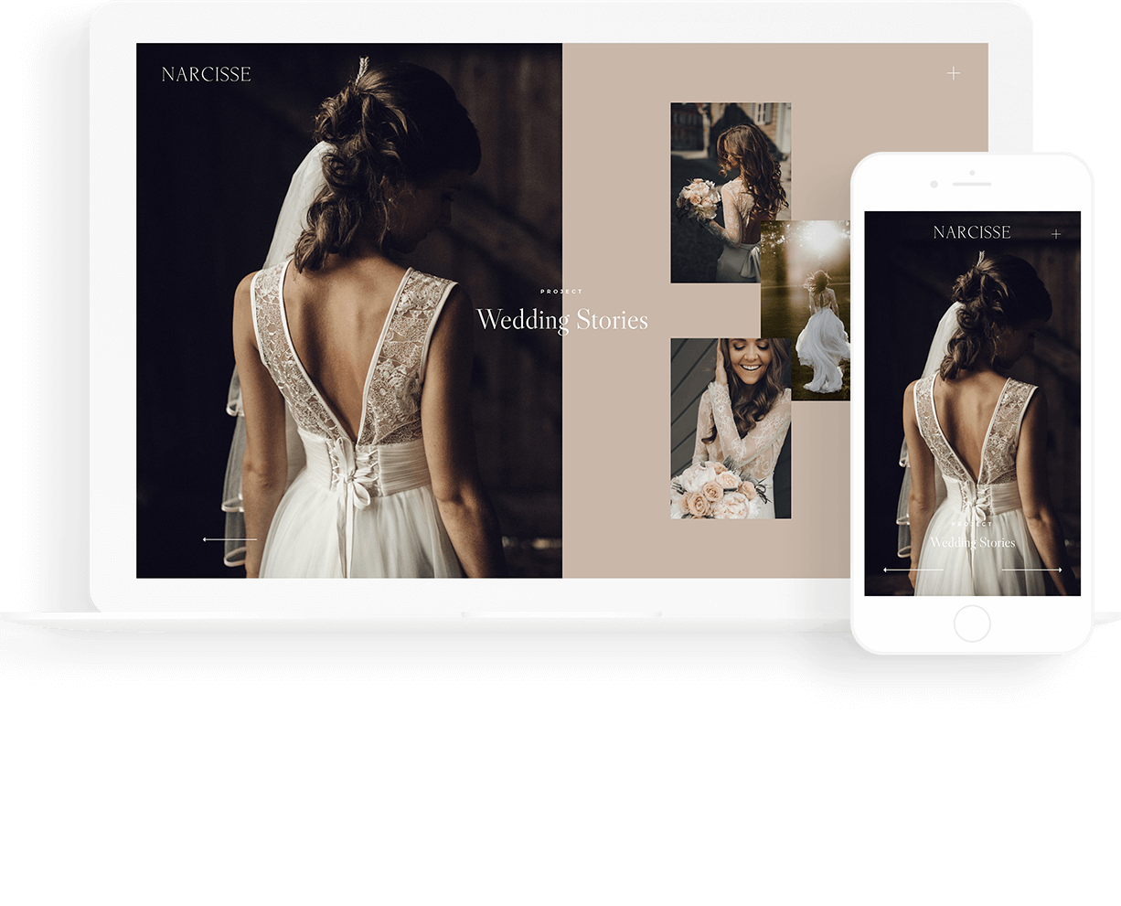 Minimalist transparent haute couture. Narcisse best wordpress theme