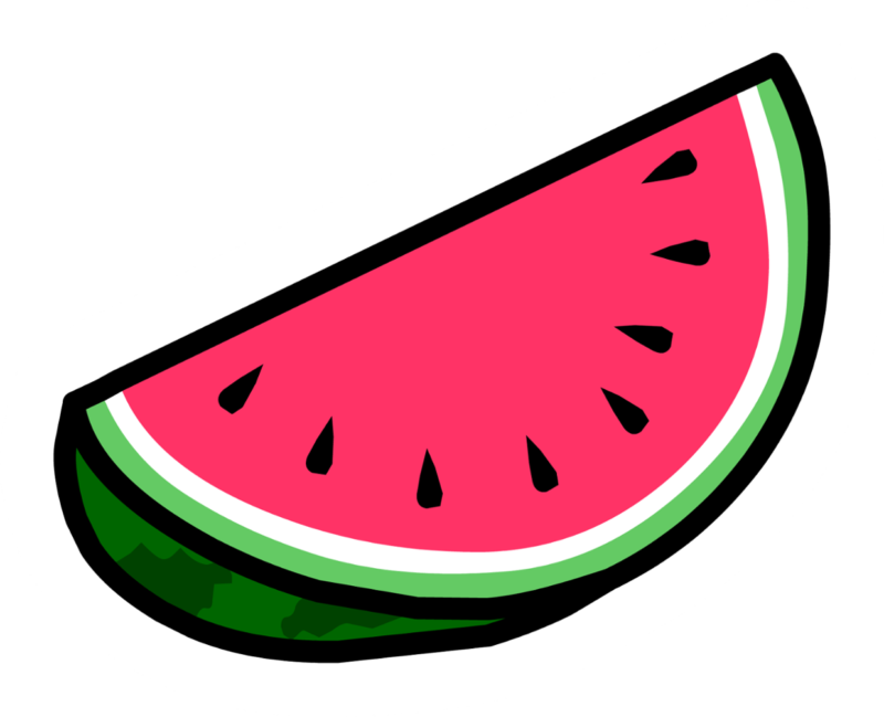 Minimalist transparent watermelon. Clipart images free download