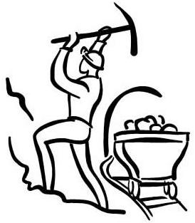 mining clipart drawing