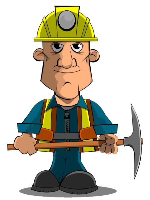 mining clipart group worker