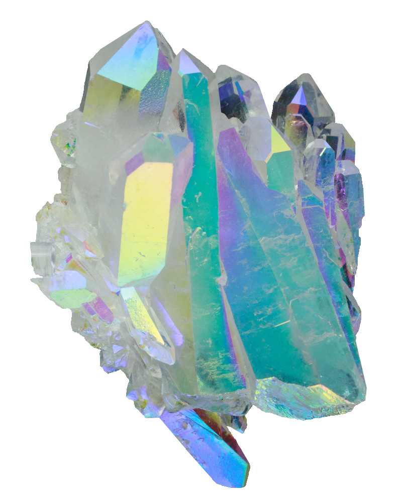 Mining drawing quartz cluster. Angel aura holographic perspective