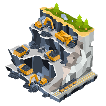 Mining clipart mining drill. Isometric illustration png vectors