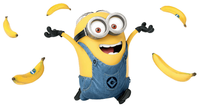 Dancing minion png. And bananas transparent stickpng