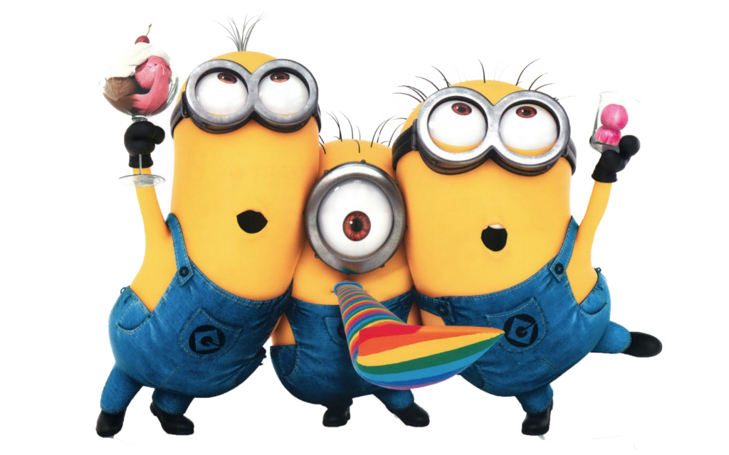 Vector minion party. Minions png images