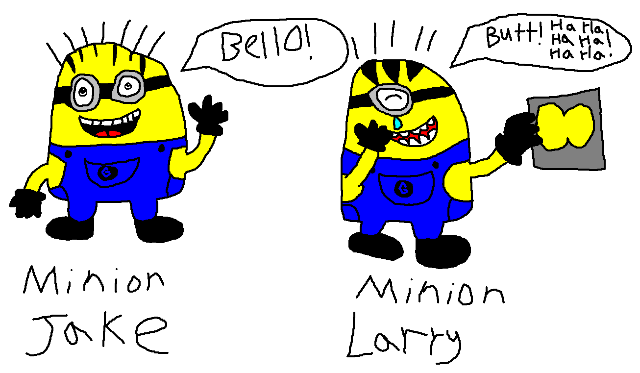 Minion clipart larry. Jake and by big