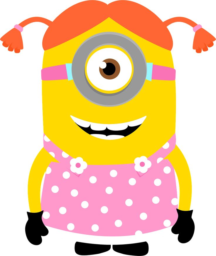 Minion clipart pink dress. Girl at getdrawings com