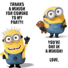 Minion clipart thank you. Free thanks a for