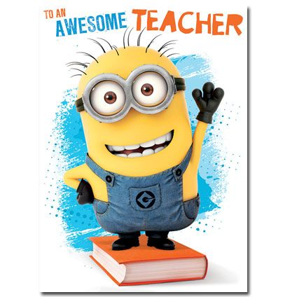 Minion clipart thank you. Your awesome teacher with