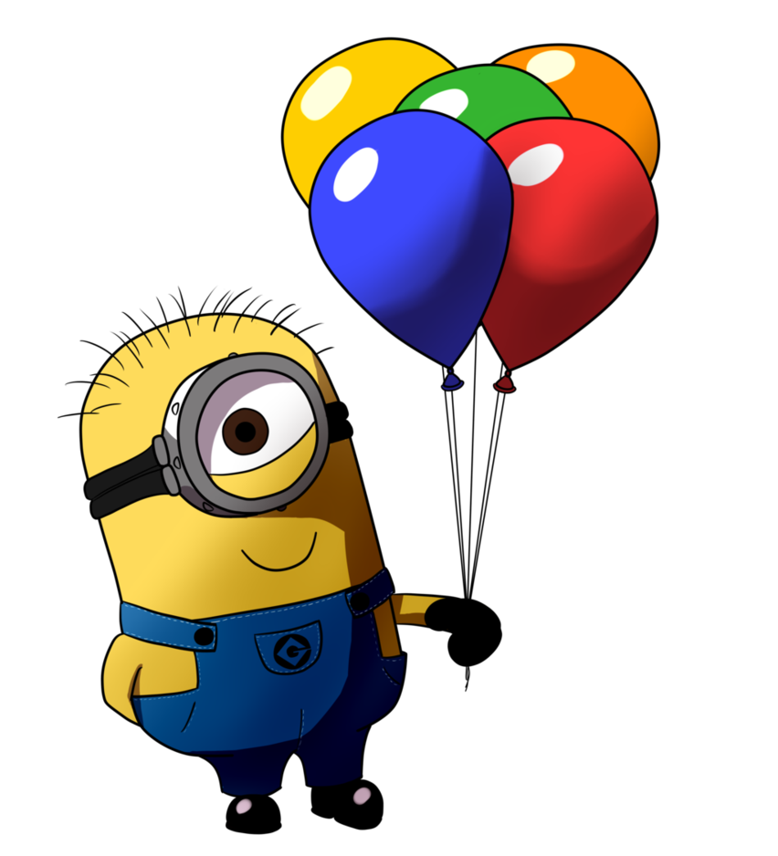 Minion dab png. Balloon by little papership