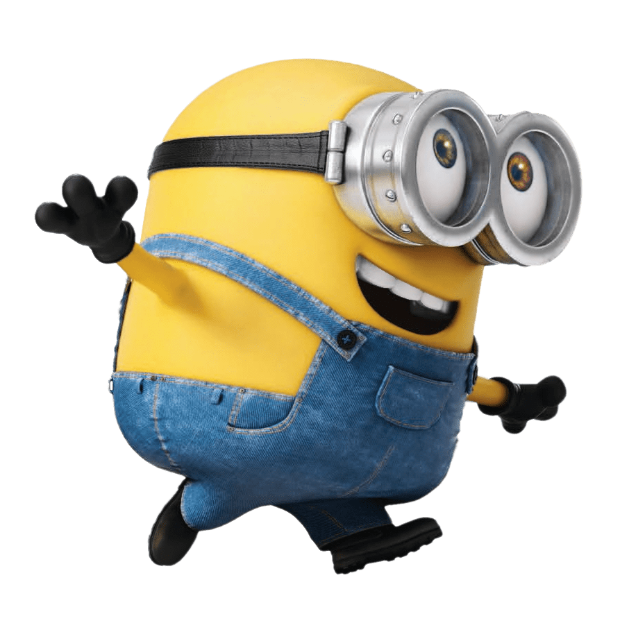 Minion transparent background png. Running stickpng download