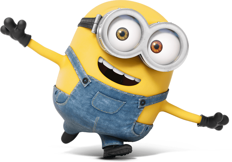 Vector minion happy. Minions sticker crazy christmas
