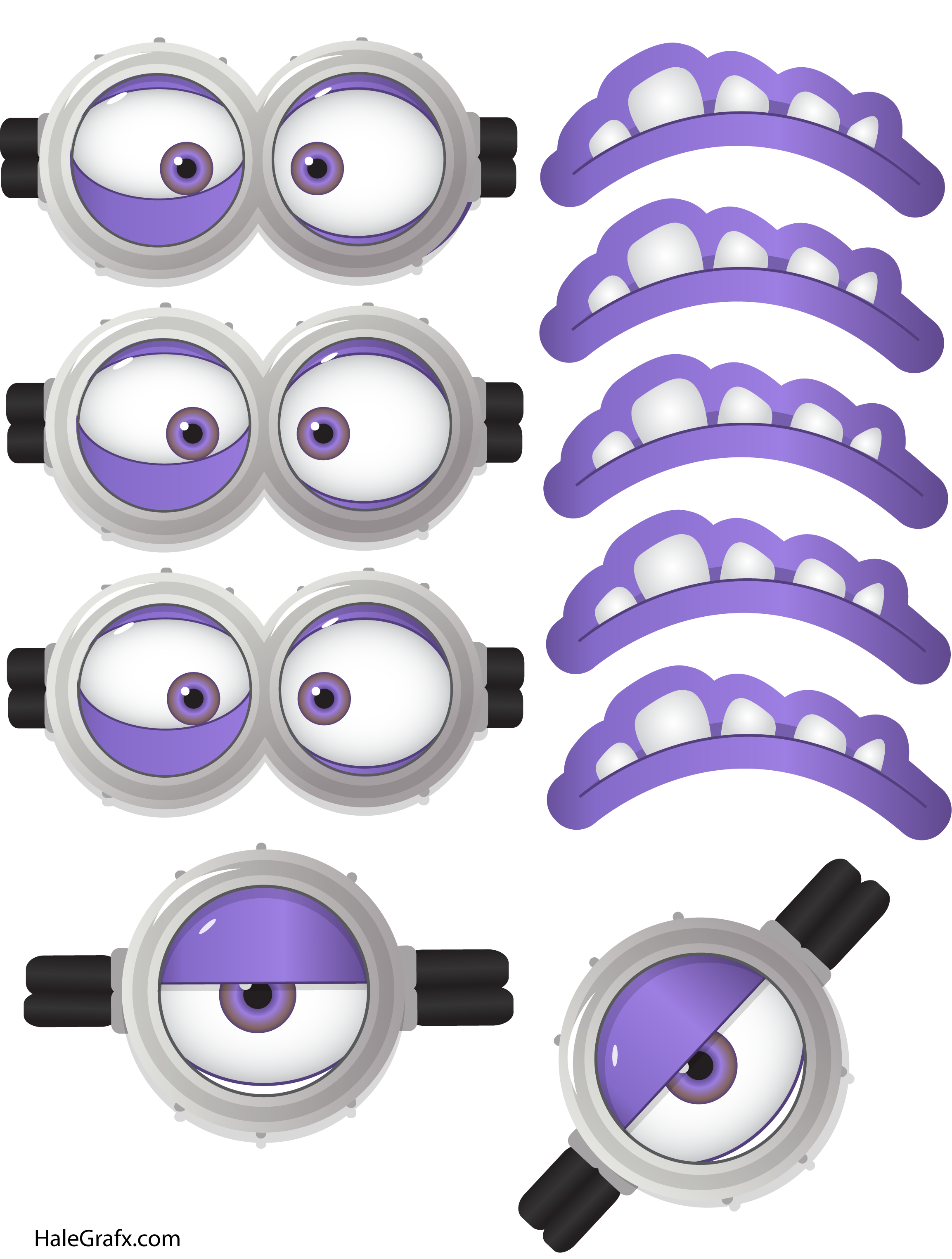 Minions eyes png