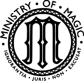Ministry of magic logo png. British harry potter wiki