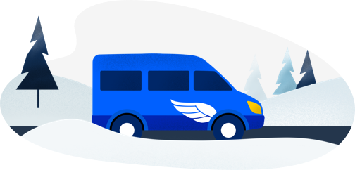 Shuttle clipart minibus taxi. We take you to
