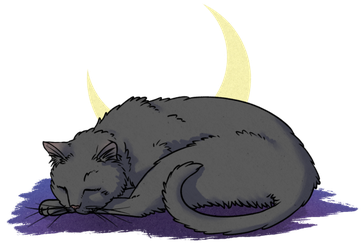 Mink drawing adorable. Cat practice sleepy by