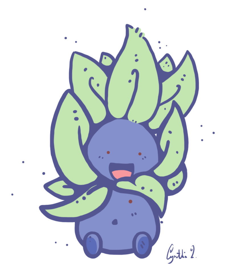 Mink drawing adorable. Oddish from pokemon made