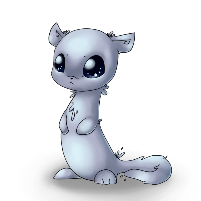 Mink drawing adorable. White by paytience on