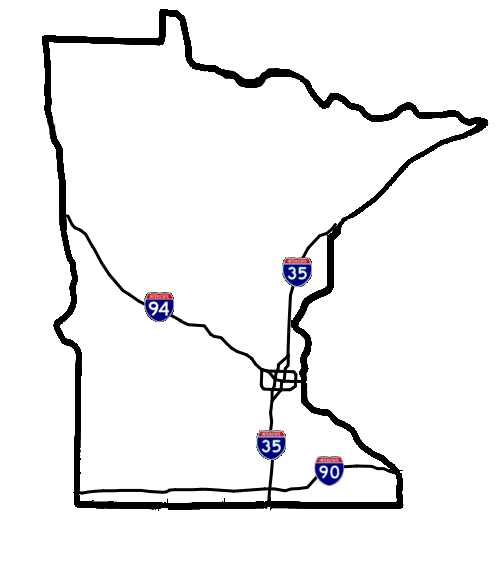 Minnesota drawing. File interstate map png