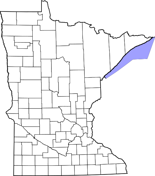 Minnesota drawing map. File of counties blank