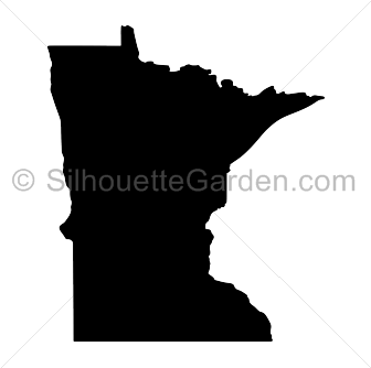 Minnesota drawing silhouette. Clip art download free