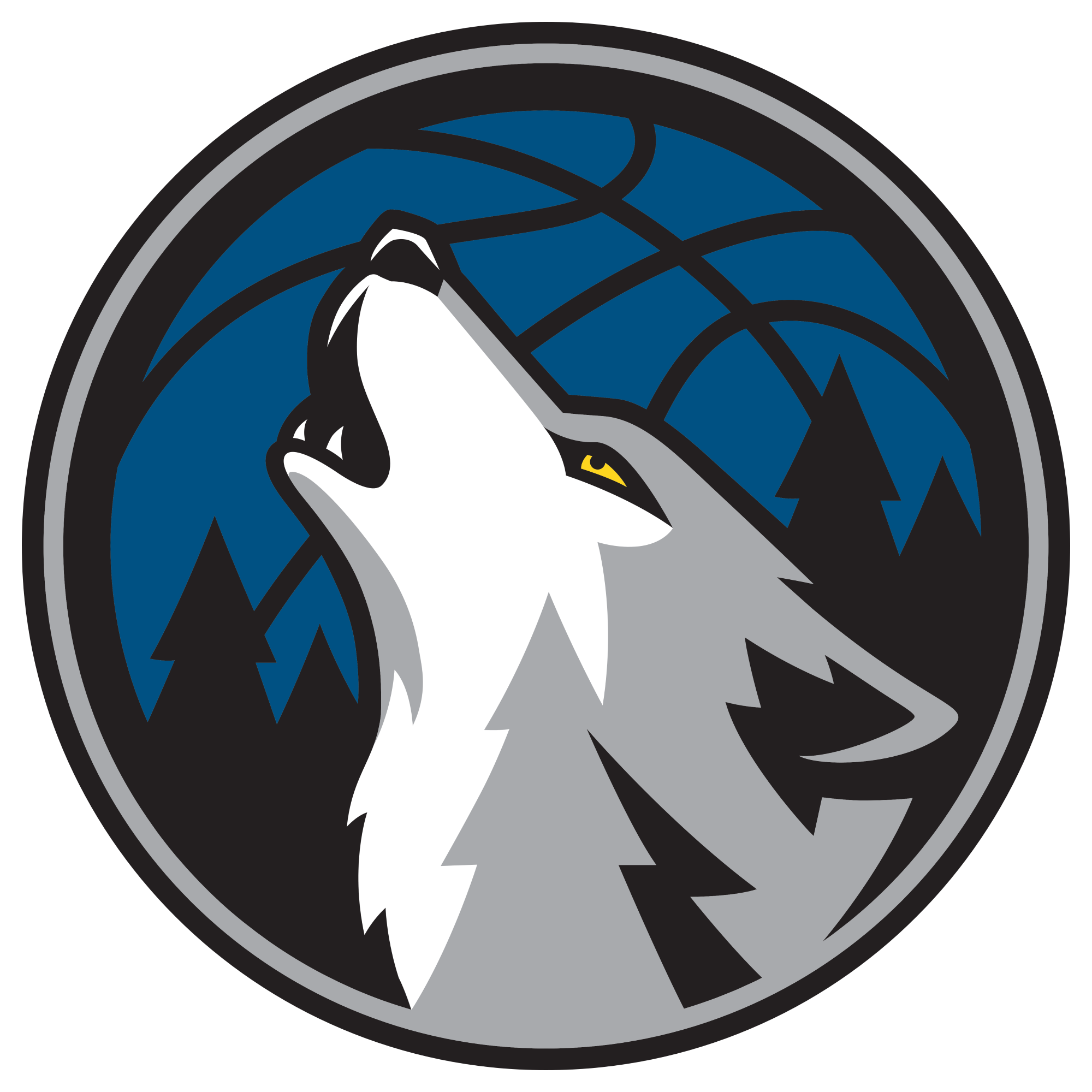 Minnesota drawing wolf. Timberwolves officially unveil new