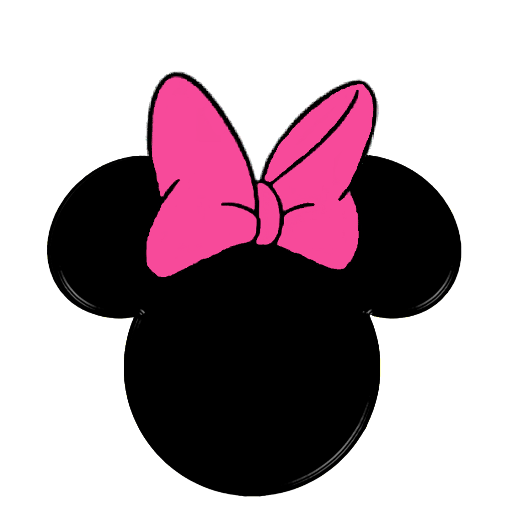 Minnie clipart face outline pink. Silhouette mouse at getdrawings