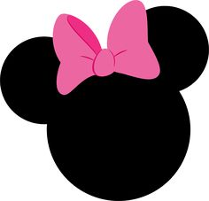 Minnie clipart face outline pink. Free download mickey silhouette
