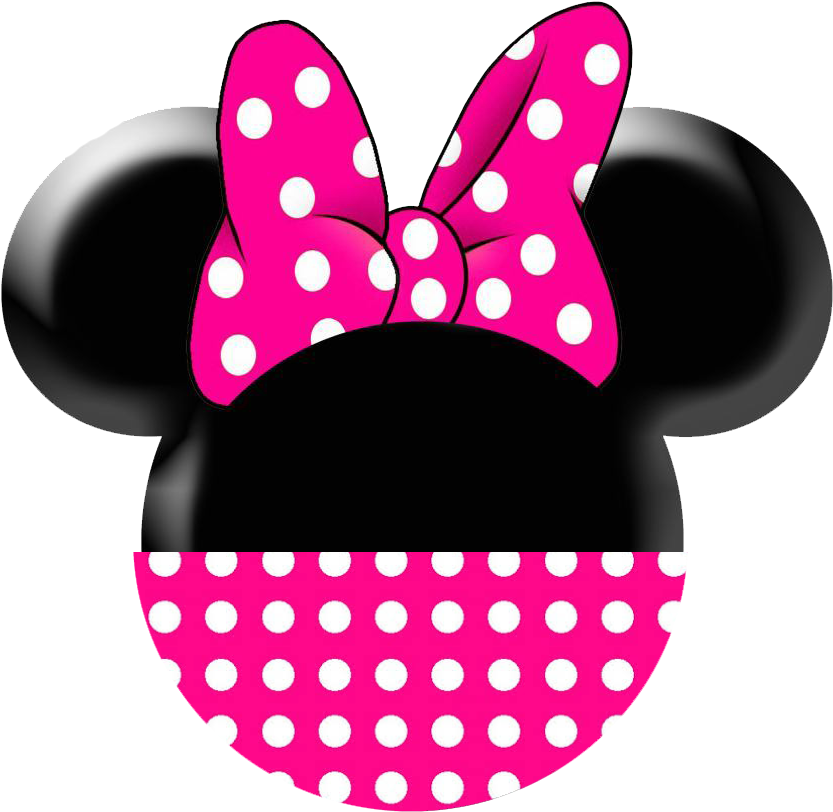 Minnie face png. Download baby mouse red