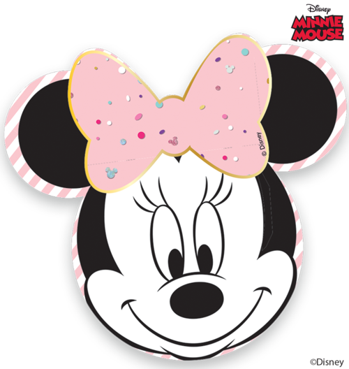Minnie face png. Plates pk premier kids
