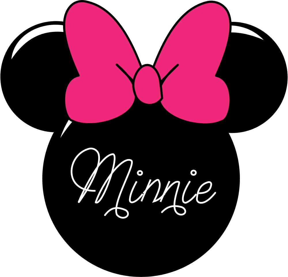 Mouse head vector group. Minnie face png black and white