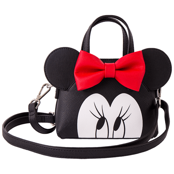 Minnie face png. Disney mouse loungefly crossbody