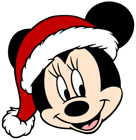 Minnie face png. Mickey mouse christmas clip