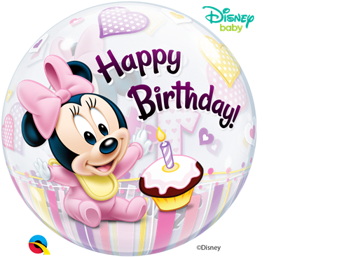 Minnie mouse 1st birthday png. St bubble disney
