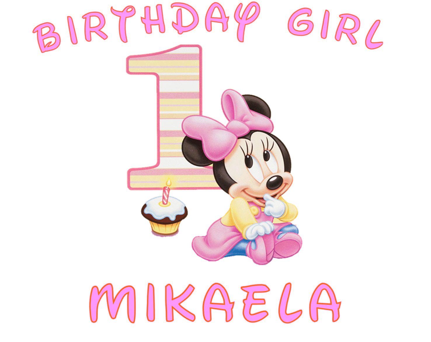 Minnie mouse 1st birthday png. Collection of st