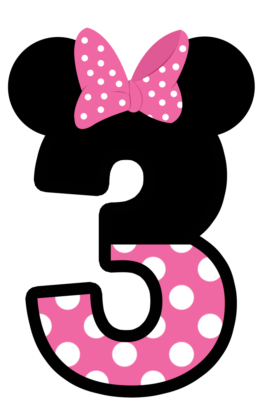 Minnie mouse background polka dots png. Numbers pinterest mice and