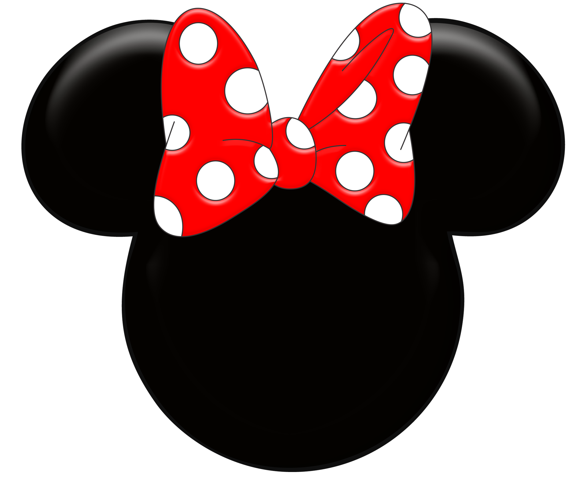 Red minnie wallpaper clipart. Mickey mouse head outline png graphic black and white