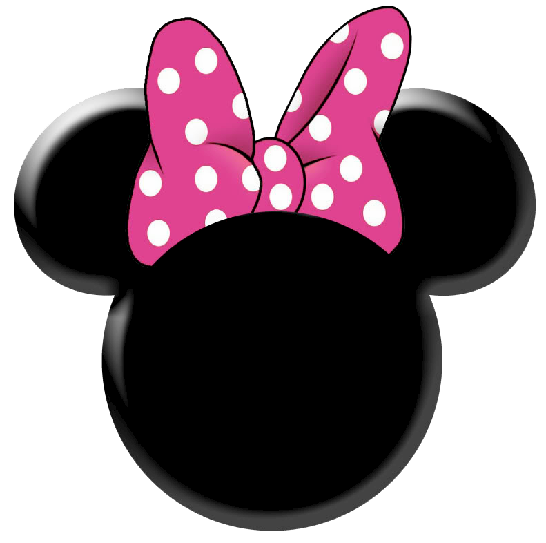 Minnie mouse head png. Clipart