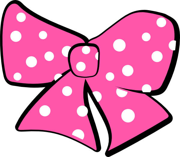 Minnie mouse pink bow png. Template outline clip art
