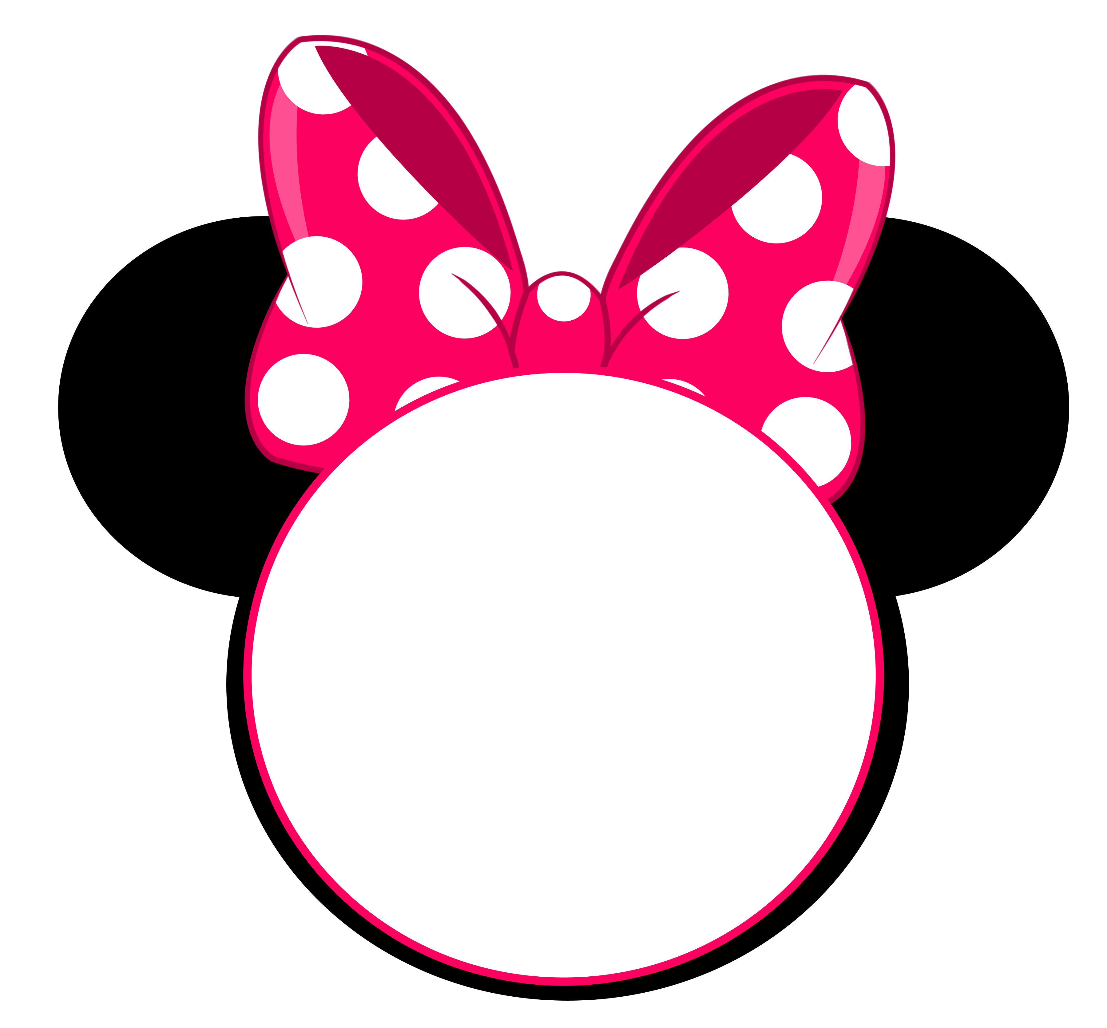 Minnie mouse png pink. Free head invitation template