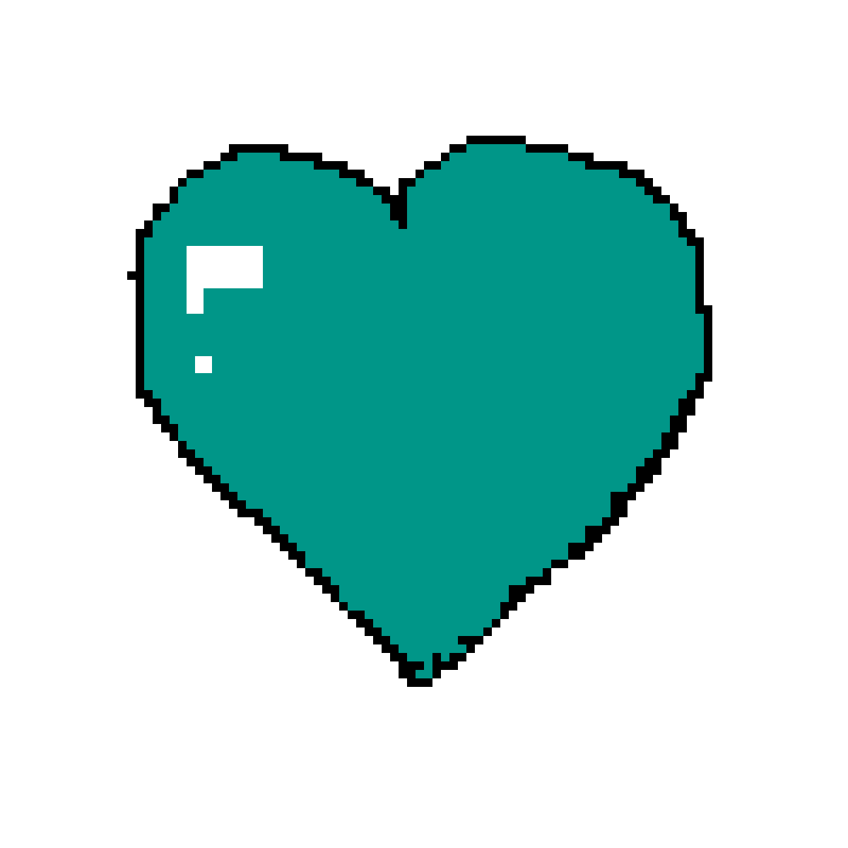 Mint heart png. Pixilart the by anonymous