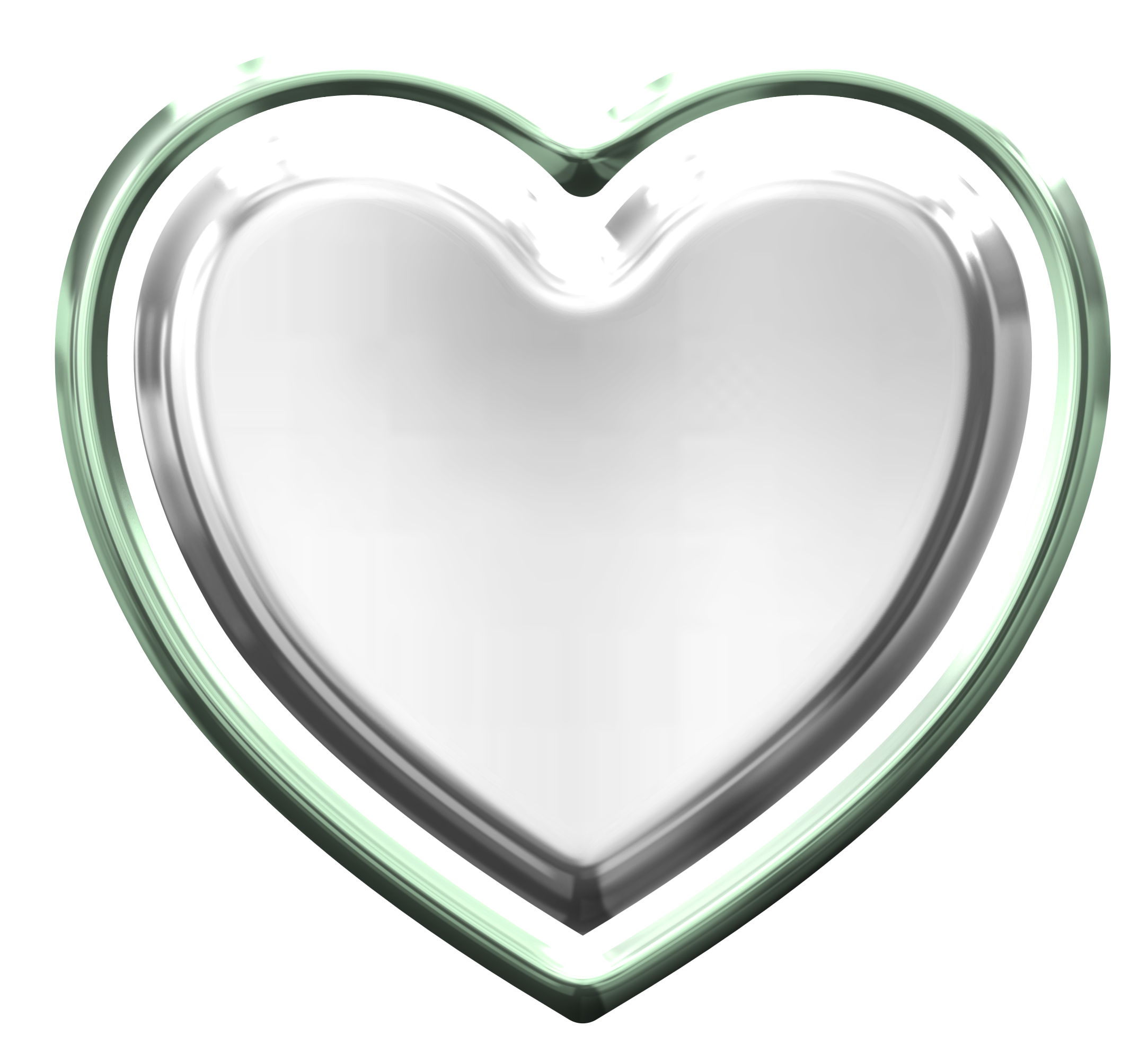 Mint heart png. Silver transparent images group