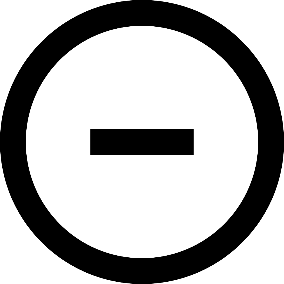 Minus sign png. In a circle svg