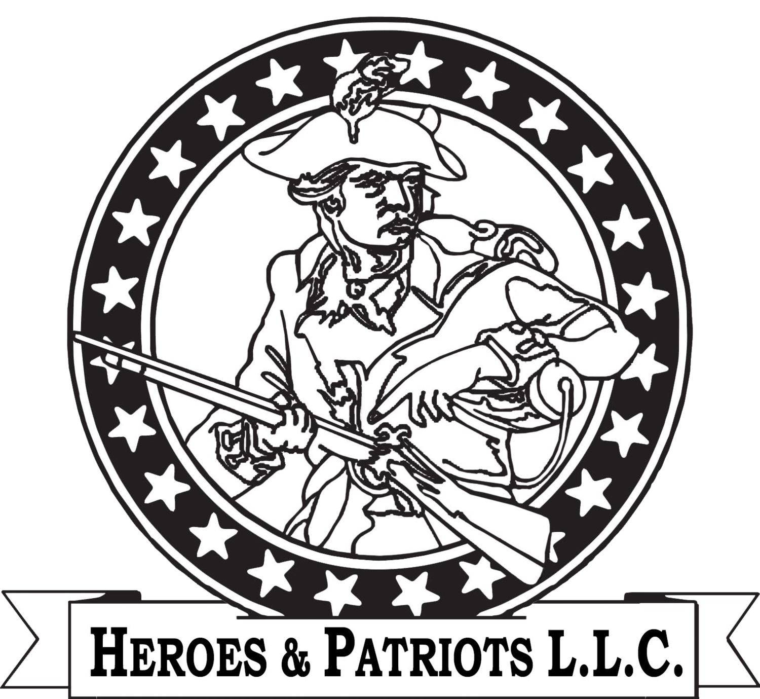 Minuteman drawing second amendment. Foundation trump rifle heroes