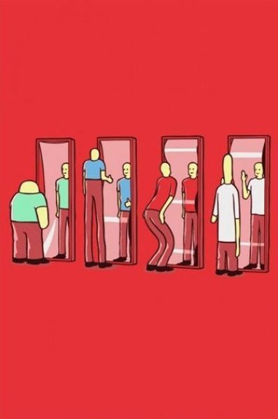 Mirror clipart fun house mirror. Meanwhile in parallel universe