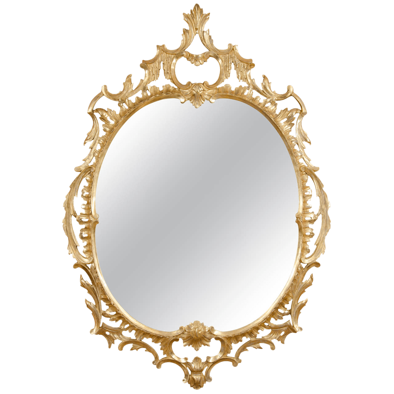 Oval gold frame png. Mirror simple transparent stickpng
