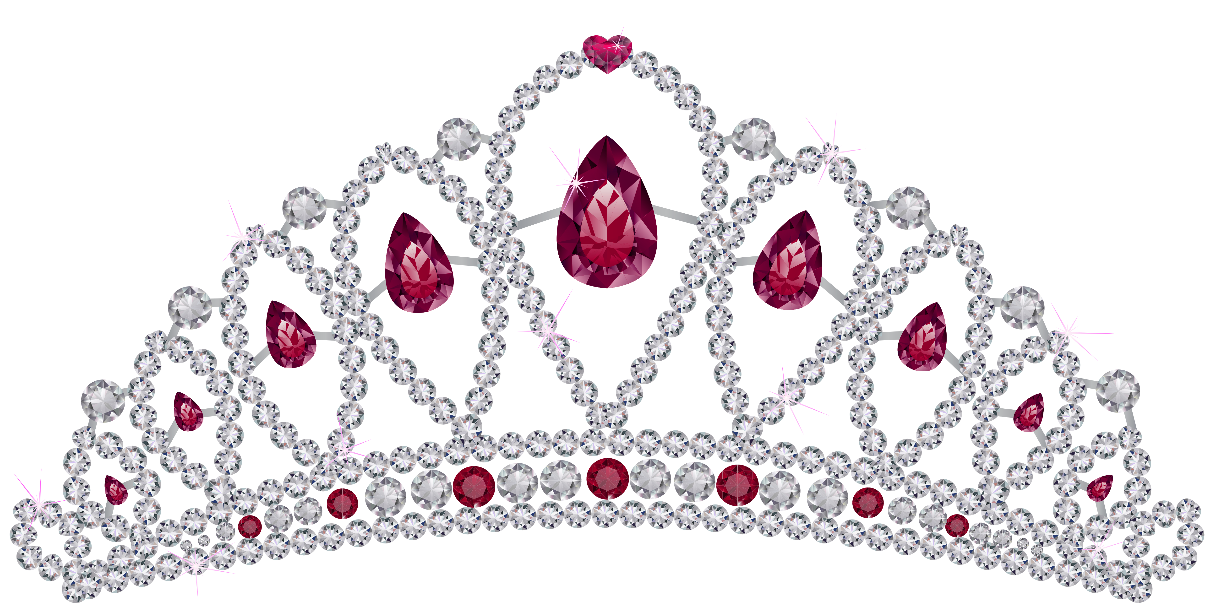 Diamond with rubies clipart. Tiara png jpg library download