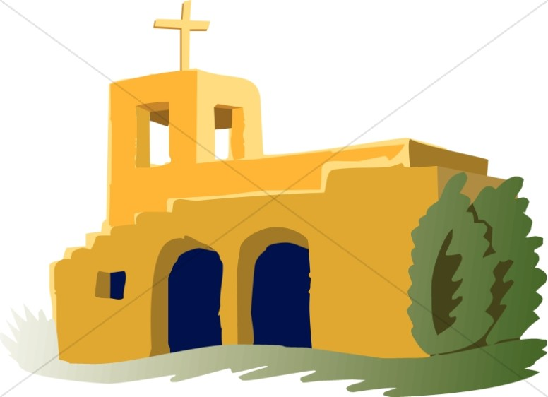 Adobe clipart. Mission church