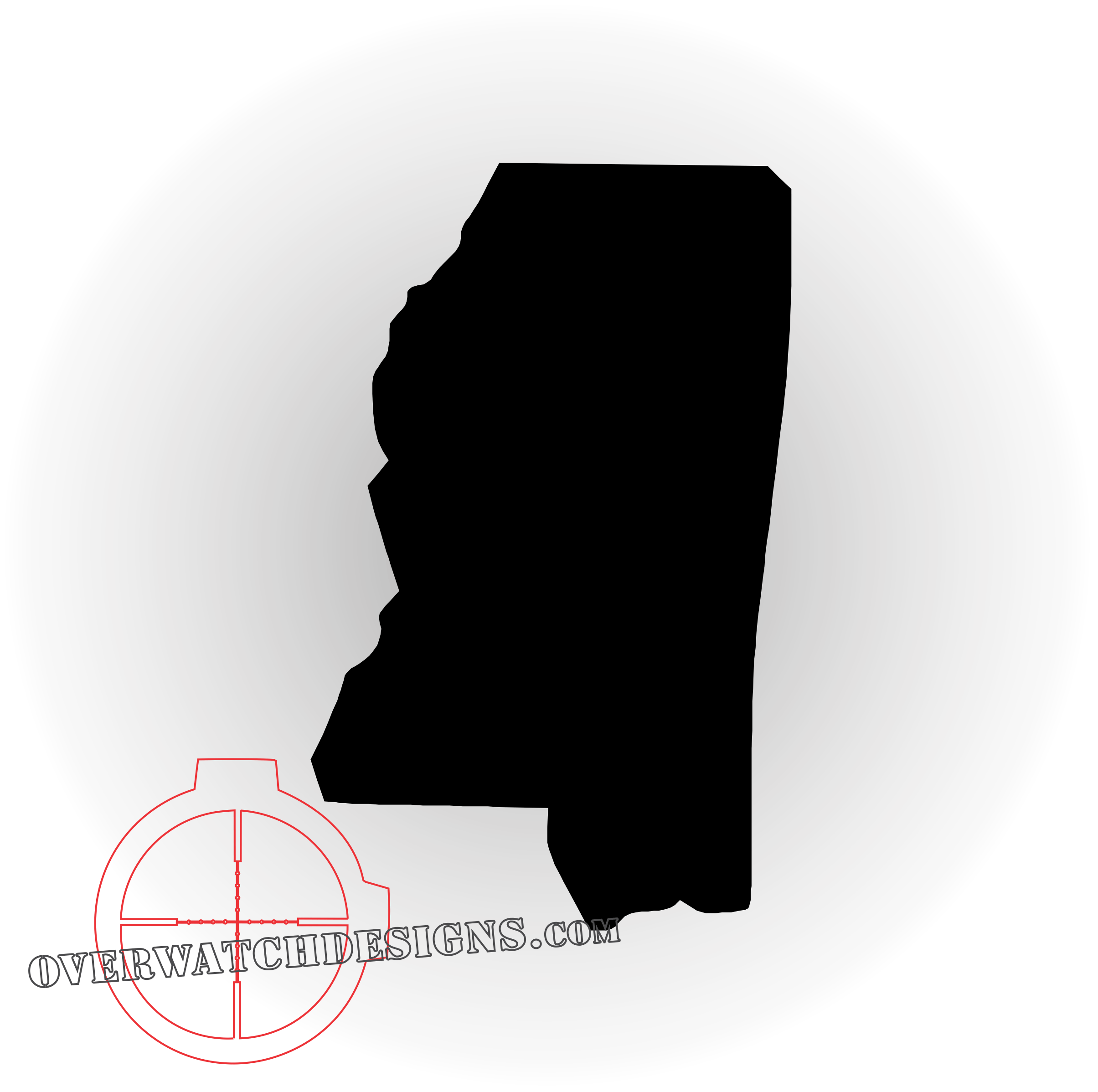 Overwatch designs decal. Mississippi outline png clip library stock