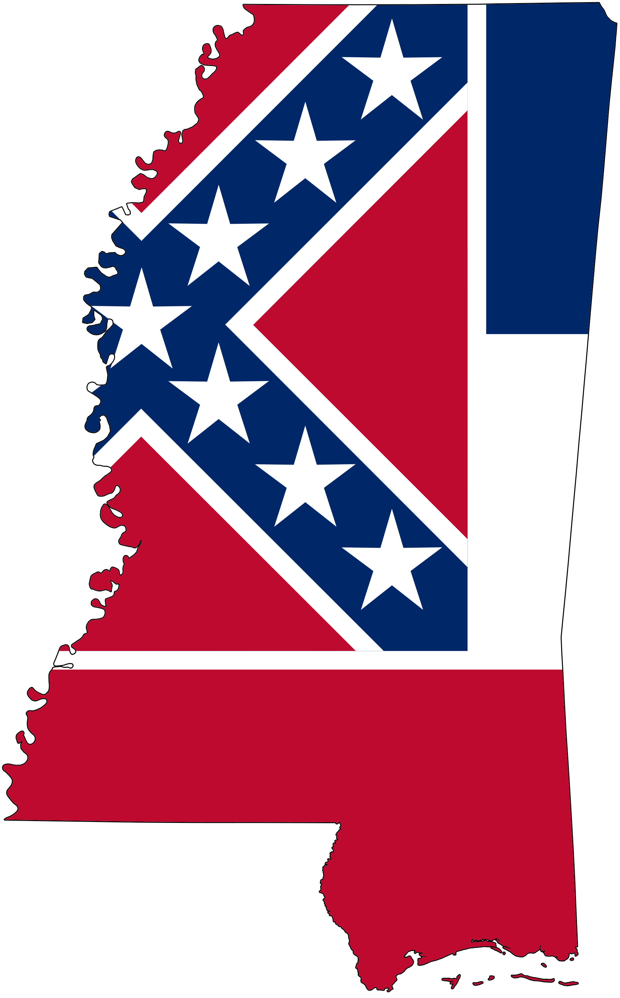 File flag map of. Mississippi vector svg black and white