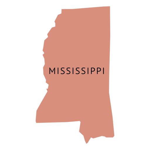 State plain map transparent. Mississippi vector image
